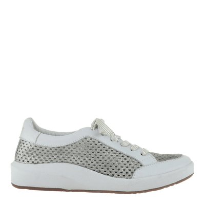 Womens sneaker joyce in grey silver right