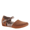 OTBT, Kalamazoo, Butterscotch, Textured flat with ankle strap