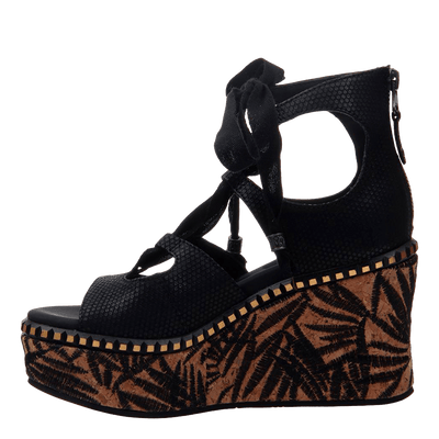 Womens wedge Kentucky in black inside
