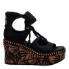 Womens wedge Kentucky in black side