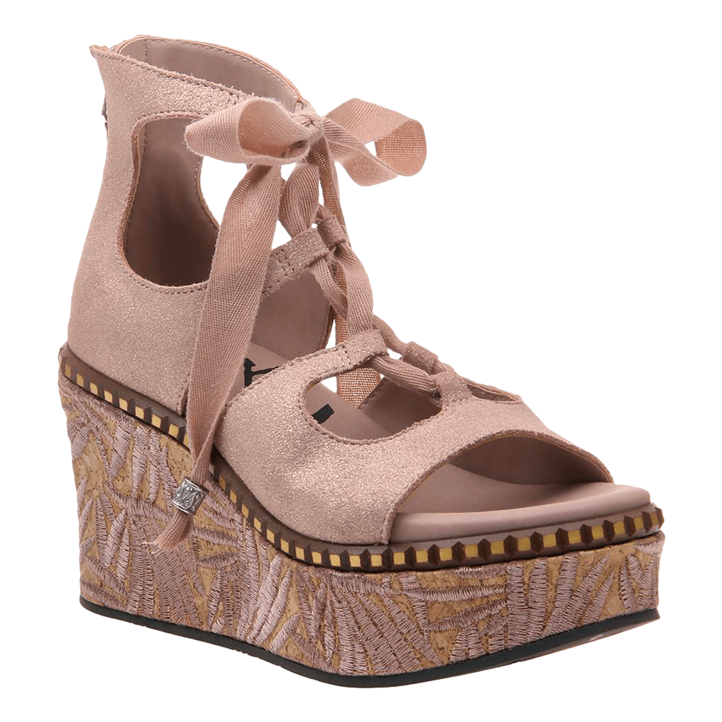 Womens wedge Kentucky in copper