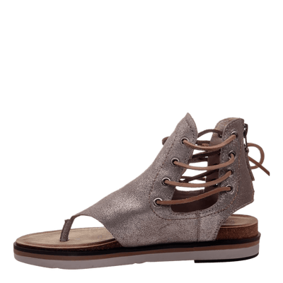 Womens sandal locate in grey silver inside view