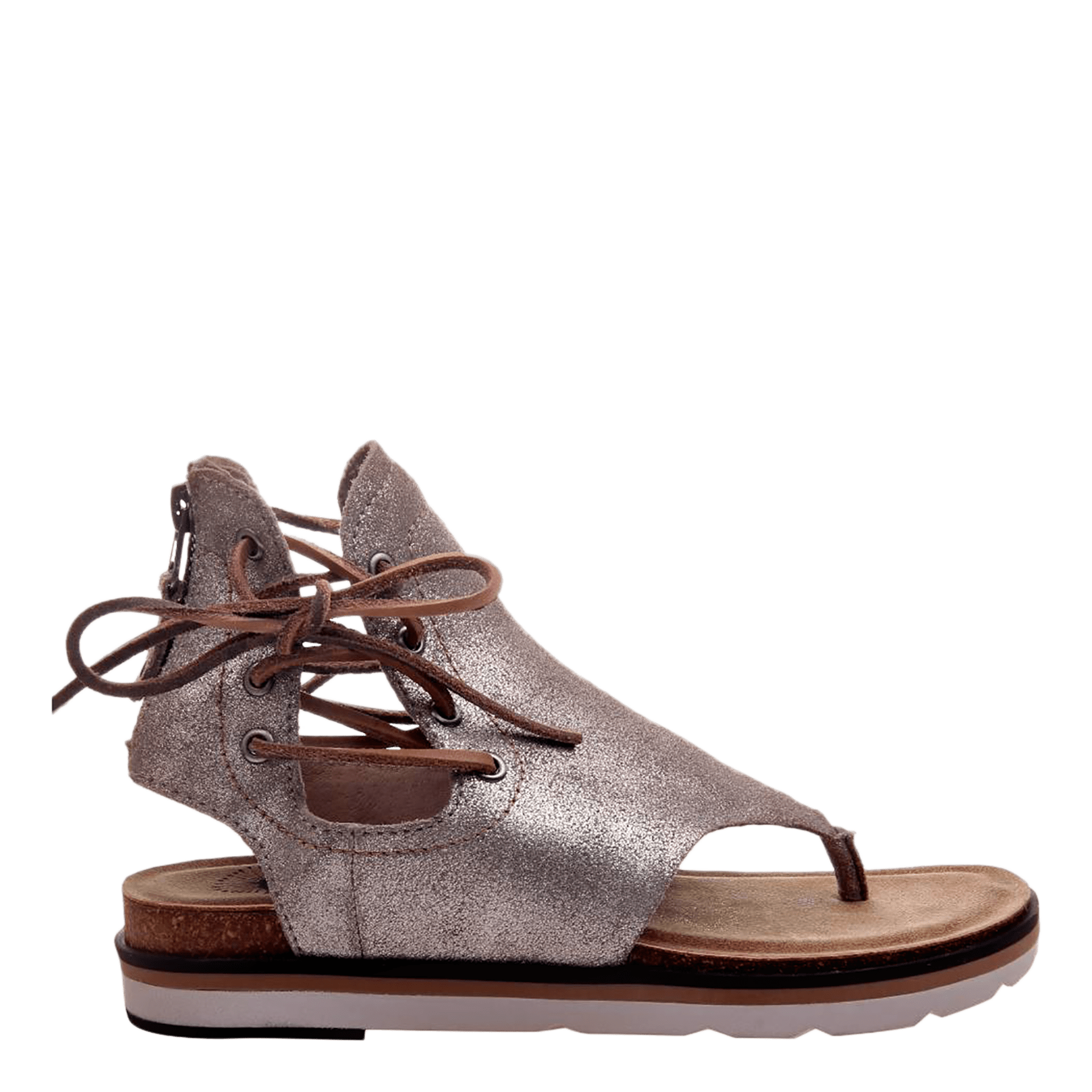 b43aa46118a Womens sandal locate in grey silver side view