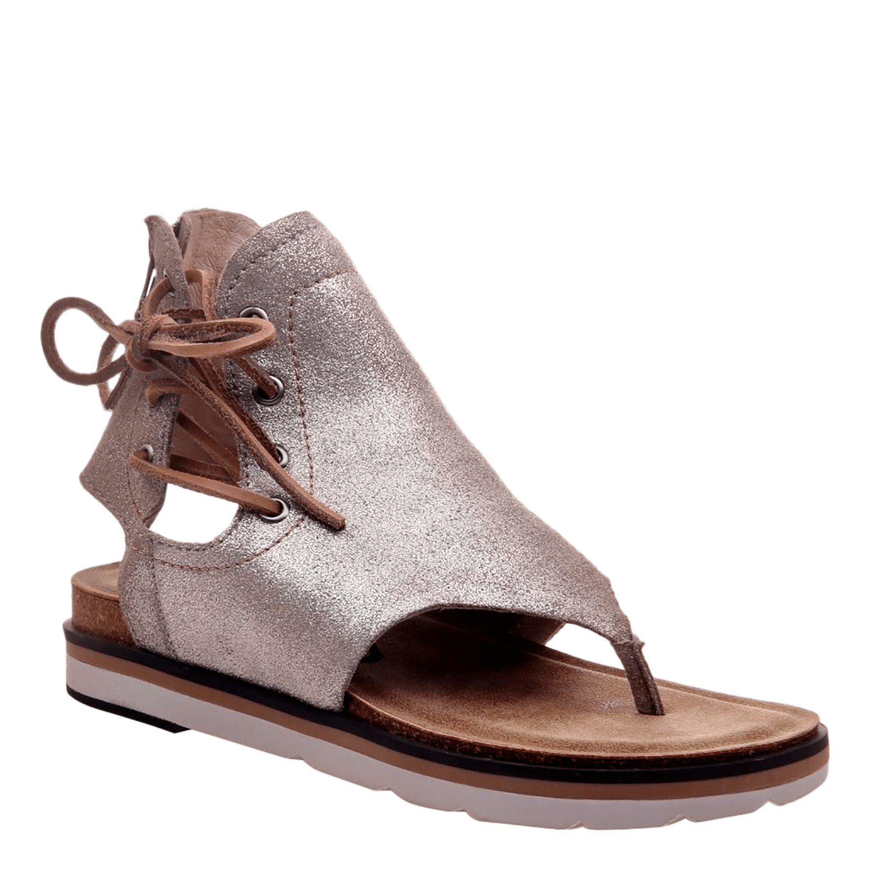 Womens sandal locate in grey silver
