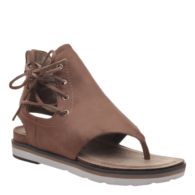 Womens sandal locate in new brown