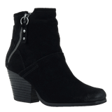 LONG RIDER in BLACK SUEDE Ankle Boots