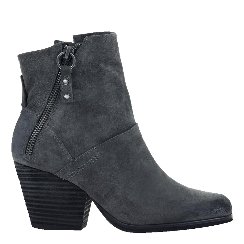 Womens ankle boot long rider in dark grey