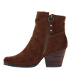 Womens ankle boot long rider in new tan inside view