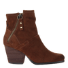 Womens ankle boot long rider in new tan side view
