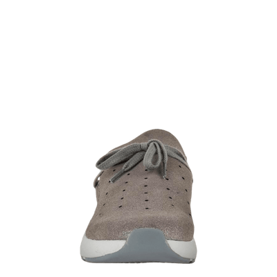 Womens sneaker Marriet in grey pewter front view