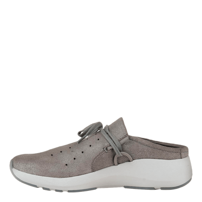 Womens sneaker Marriet in grey pewter inside view