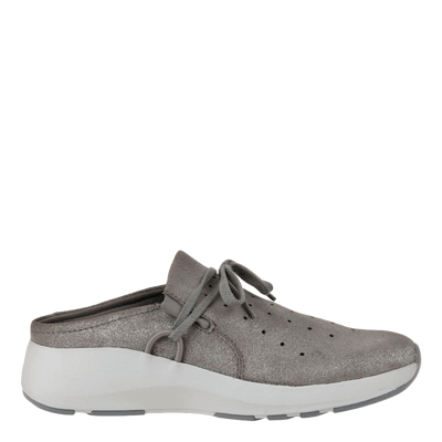 Womens sneaker Marriet in grey pewter side view