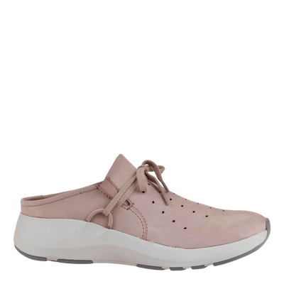 Womens sneaker marriet in warm pink side view