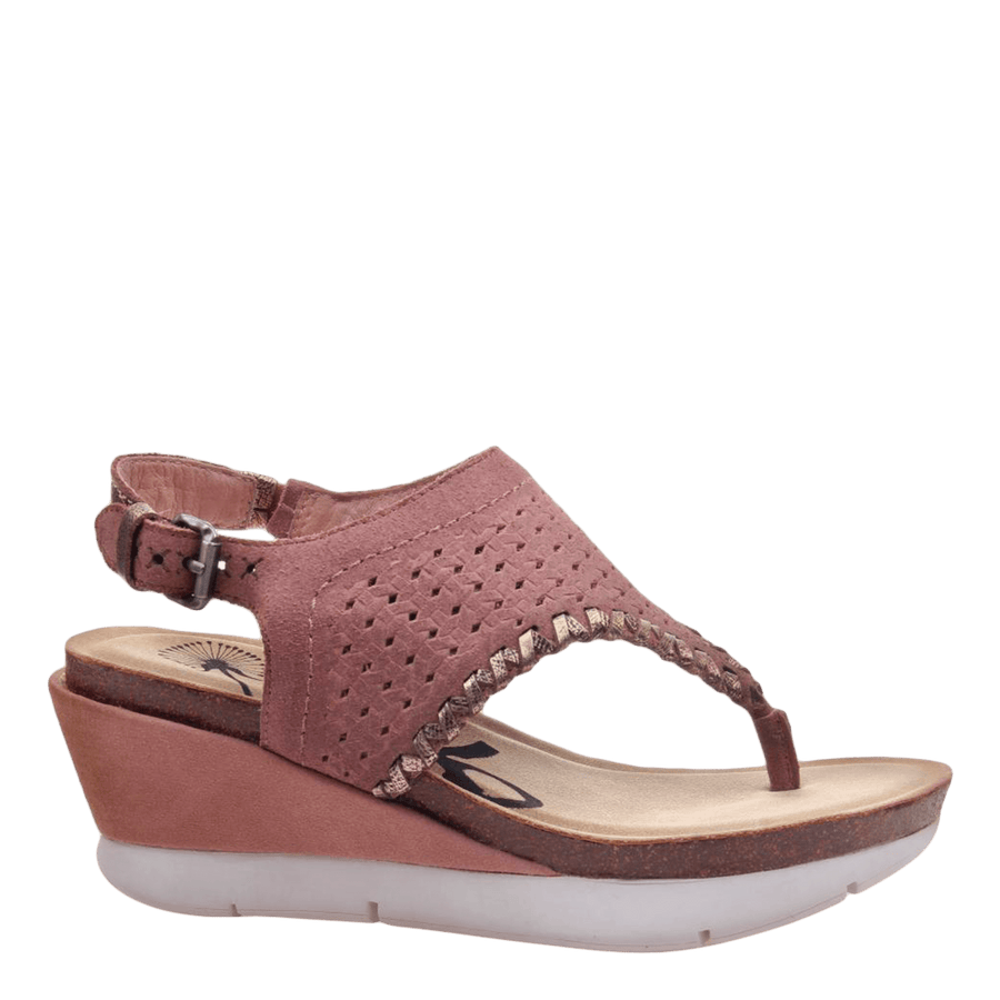 Womens wedge sandal meditate in salmon