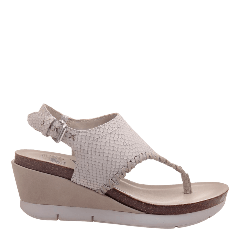 Womens wedge meditate sport white