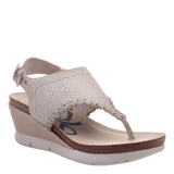 MEDITATE in SPORT WHITE Wedge Sandals