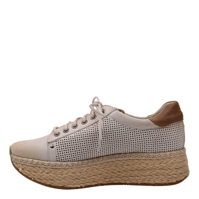 Womens sneaker Meridian Dove Grey inside