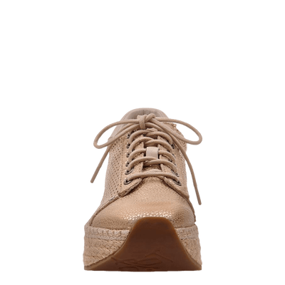 Womens sneaker Meridian New Gold front