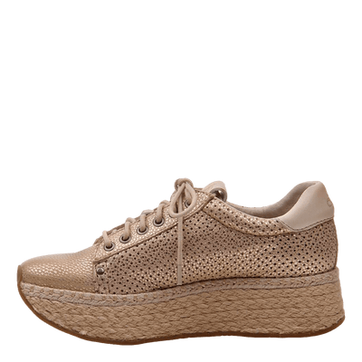 Womens sneaker Meridian New Gold inside