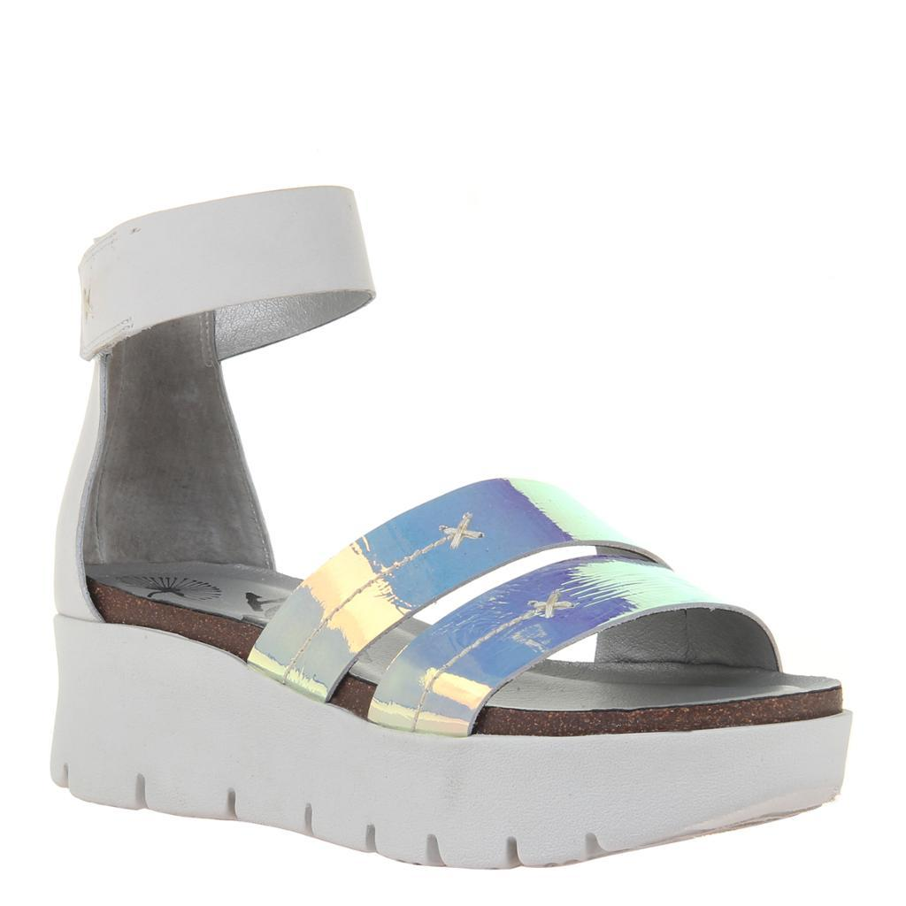 MONTAUK in NEW SILVER Wedge Sandals