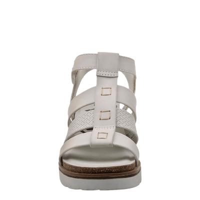 New Moon Dove Grey Wedge sandal front