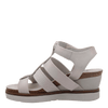 New Moon Dove Grey Wedge sandal inside
