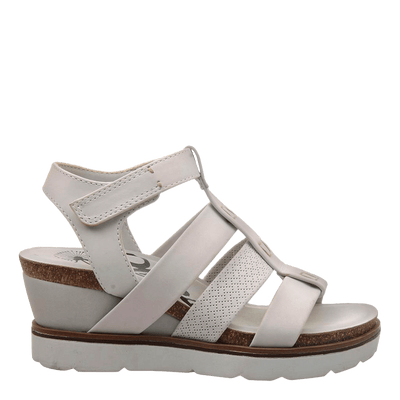 New Moon Dove Grey Wedge sandal side