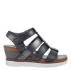 Womens wedge sandal new moon in new black side view