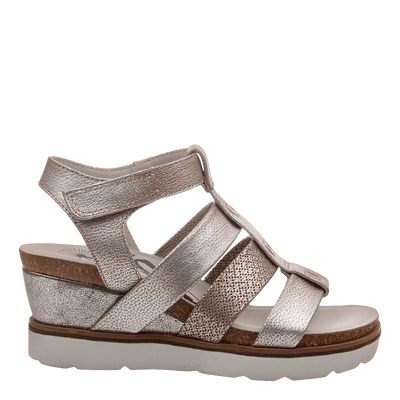New Moon SilverWedge sandal inside
