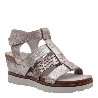 New Moon SilverWedge sandal