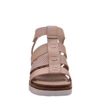 New Moon Warm Pink Wedge sandal front