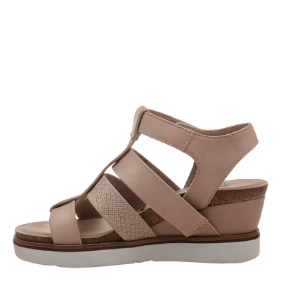 New Moon Warm Pink Wedge sandal inside