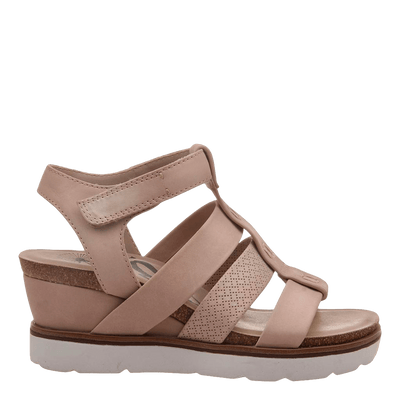 New Moon Warm Pink Wedge sandal side