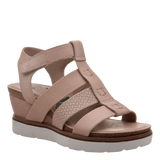 NEW MOON in WARM PINK Wedge Sandals