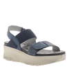 Womens platform sandal Nova in navy