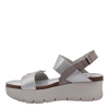 Womens wedge sandal nova in new silver inside view