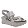 Womens wedge sandal nova in new silver