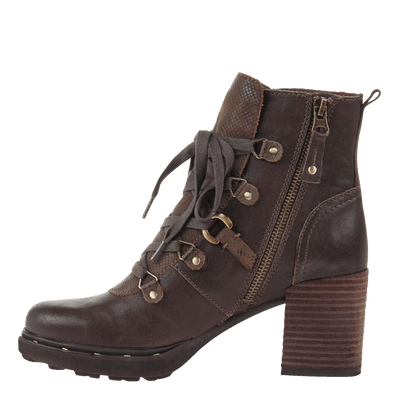 Womens ankle boot Oregon in jave inside view