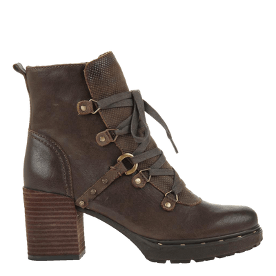 Womens ankle boot Oregon in jave side view