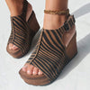 JAUNT in TAN Wedge Sandals