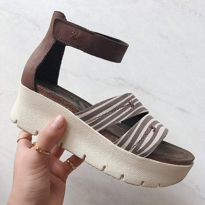 MONTAUK in TAPIOCA Wedge Sandals