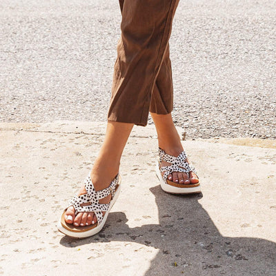 SPRINGER in DALMATION PRINT Wedge Sandals