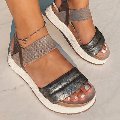 LIBRA in SILVER Wedge Sandals