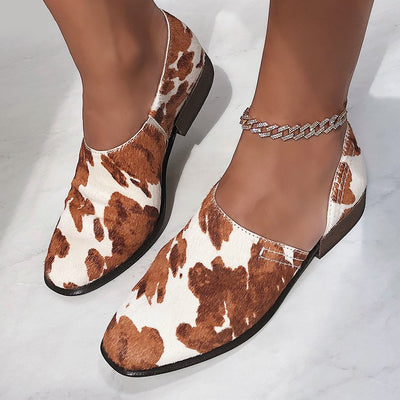 COYOTE in CALF PRINT Ankle Boots