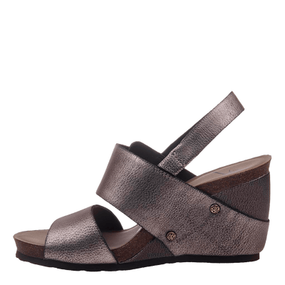 Overnight womens wedge grey pewter inside
