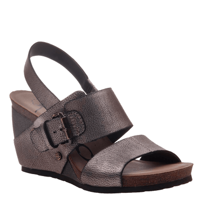 Overnight womens wedge grey pewter