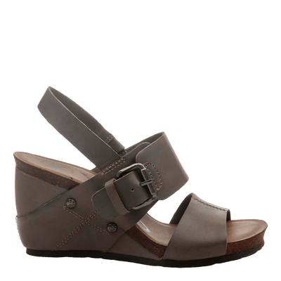 OVERNIGHT in ZINC Wedge Sandals