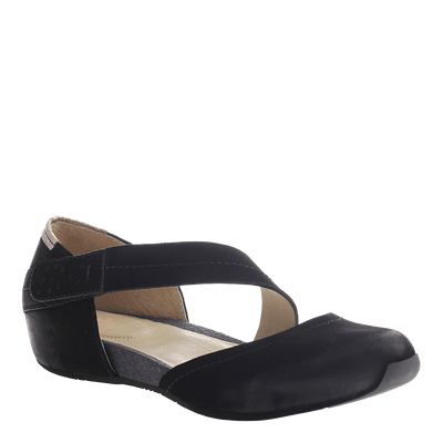 OTBT, Pacific City, Black, Closed flat with strap