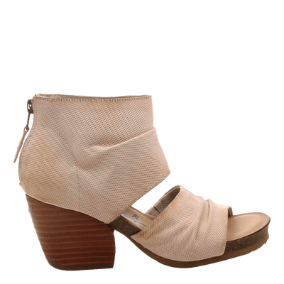 Womens heeled sandal patchouli in ivory side
