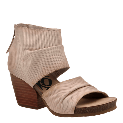 Womens heeled sandal patchouli in ivory